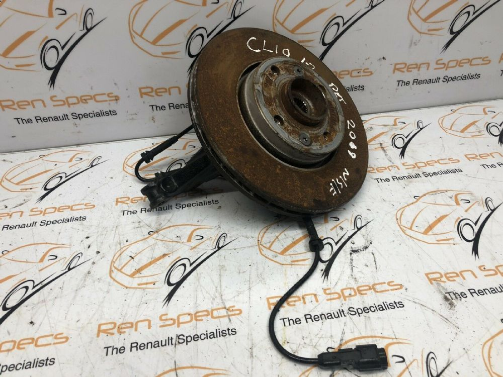 13-19 Renault Clio MK4 1.2 Petrol Front Hub and Brake Disc Left Passengers Side